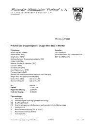 Protokoll Gruppentag 2012 - Gruppe Mitte im DBV