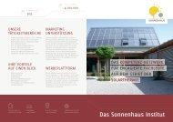 Das Sonnenhaus Institut - Gemeinhardt AG