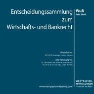 Titel WuB 02.qxd - WM Wirtschafts- und Bankrecht