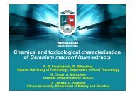 Chemical and toxicological characterisation of Geranium ...