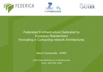 Federated E-infrastructure Dedicated to European Researchers ...