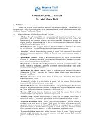 Condizioni Generali Parte II - Monte Titoli