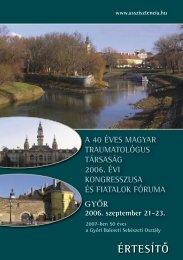 ÉRTESÍTÔ - Magyar Ortopéd Társaság