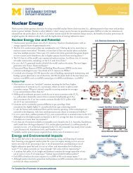 CSS Factsheets, Nuclear Energy - Center for Sustainable Systems ...