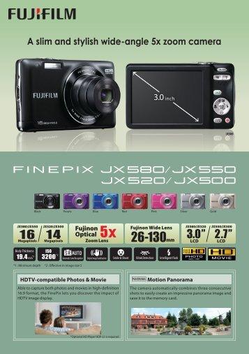 FUJIFILM FINEPIX JX - Fujifilm USA