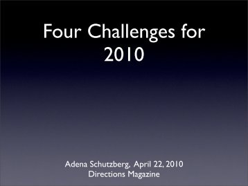 Four Challenges for 2010 - MAGIC