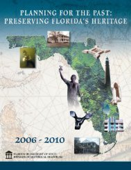 Planning for the Past: Preserving Florida's Heritage