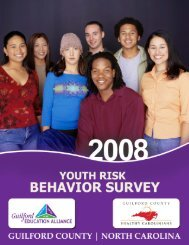 Guilford County Youth Risk Behavior Survey Overview What is the ...