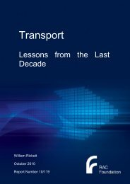Transport – Lessons from the Last Decade - RAC Foundation