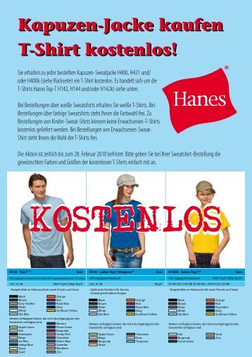 Kapuzen-Jacke kaufen T-Shirt kostenlos!