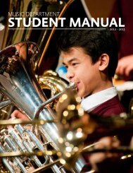 STUDENT MANUAL2012 - 2013 - St. George's School