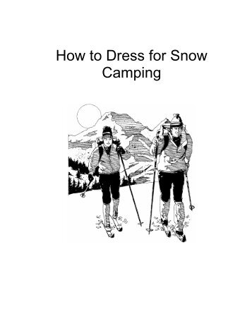 How to Dress for Snow Camping - Troop 394
