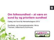 Københavns Kommune v/ Ninna Thomsen - Sund By Netværket