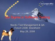 Six Sigma in Software Testing - Euro Project Office