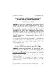 Impact de l'aide publique au développement sur la ... - Union africaine