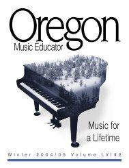 OMEA cover Winter 2005 - Oregon Music Education Association