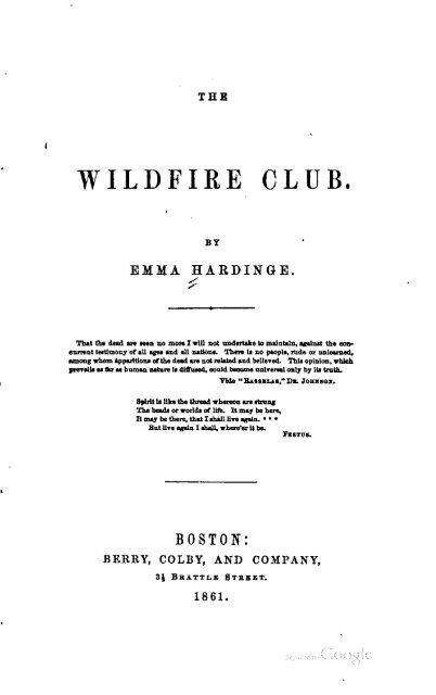 The Wildfire Club The Emma Hardinge Britten Archive