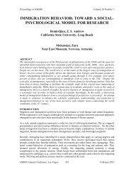 immigration behavior: toward a social- psychological ... - Asbbs.org