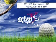 GTM Trophy Package - Senat der Wirtschaft