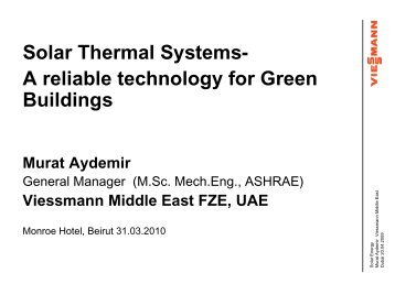 Solar Thermal Systems - e-EcoSolutions
