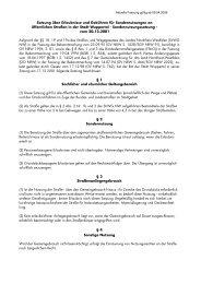 Satzung über Erlaubnisse und Gebühren für ... - Stadt Wuppertal