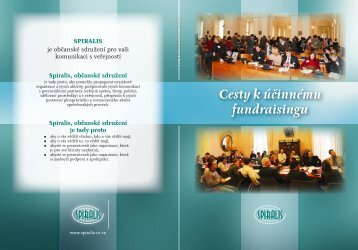 O projektu Cesty k účinnému fundraisingu - Neziskovky