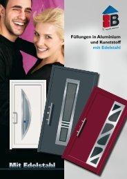 Füllungen in Aluminium und Kunststoff mit ... - Hilger-interfer SA
