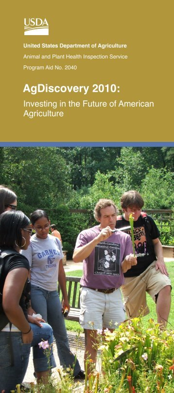 AgDiscovery 2010: - Apollo High School