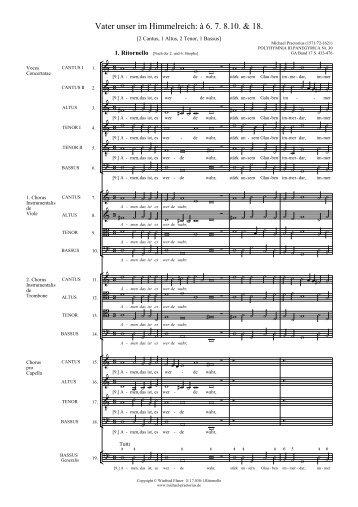 E 17.030-1. und 2. Ritornello - Michael Praetorius