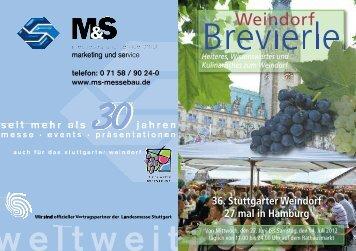 Brevierle HH/06 S.1-64 - Stuttgarter Weindorf