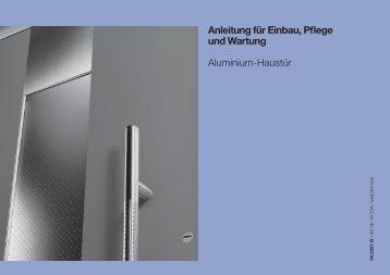 Anleitung für Einbau, Pflege und Wartung Aluminium ... - Antriebe 24