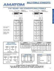 MALE-FEMALE STANDOFFS - Electronic Fasteners Inc