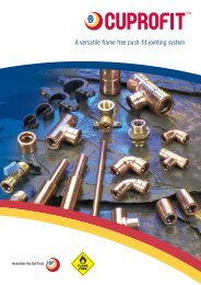 A versatile flame free push-fit jointing system - IBP Instalfittings