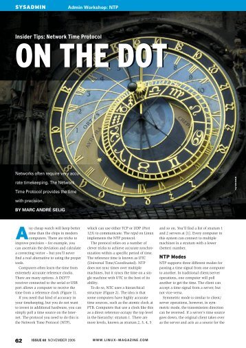 Insider Tips: Network Time Protocol - Linux Magazine