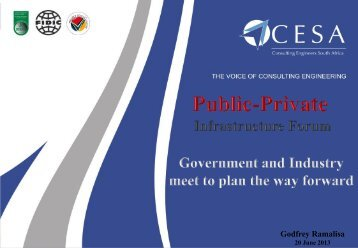 20130620_Public Private Infrastructure Forum_AG Ramalisa - Cesa
