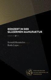 Konzert in der Gläsernen ManufaKtur - Staatskapelle Dresden