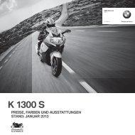 Preisliste K 1300 S (PDF, 262 KB) - BMW Motorrad