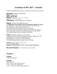 Invitasjon til NC1 2011 – Arendal - nmsbf