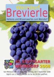 Weindorf Brevierle, Heiteres und Wissenswertes zum ... - Pro Stuttgart
