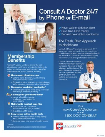 by Phone or E-mail - Health and Lifestyle Benefits