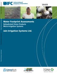 Water footprint assessments - IFC