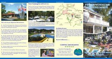 FERIENWOHNUNG FERIENZIMMER - Camping Kirchzarten