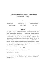 Non-Linearity in the Determinants of Capital Structure - Centre for ...