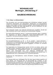 BAUBESCHREIBUNG - Schneid Bauträger GmbH