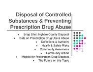 Disposal of Controlled Substances & Preventing Prescription Drug ...