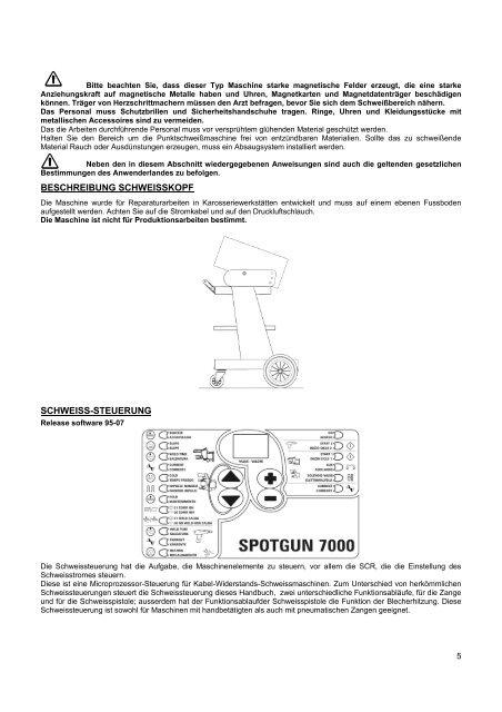 SCHWEISS-SYSTEME FÜR KFZ-KAROSSERIEN - Elettro CF