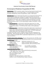 Extracorporeal Membrane Oxygenation (ECMO) - UCSF Benioff ...