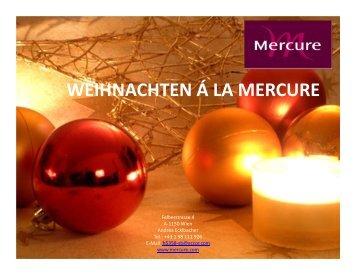 WEIHNACHTEN Á LA MERCURE 2 Lokaltipp September