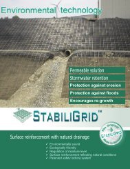 Surface reinforcement with natural drainage Permeable solution ...