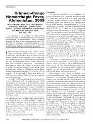 Crimean-Congo Hemorrhagic Fever, Afghanistan, 2009